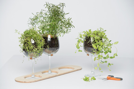 Press kit | 884-04 - Press release | HEC Project 2014 Edition - Faculté d'aménagement de l'Université de Montréal - Industrial Design - Aromate<br><br>Aromate  rethinks the experience of seasonning your meals by bringing the fine  herbs to the table. Aromate will give to your dinners a pleasant and  laid back atmosphere, while preserving your plants.<br><br>Bianca Lachance<br>Grégoire Lortie<br>Danielle Marie Houdelot Viaud - Photo credit: Olivier Ouimet 2014 - www.olivierouimet.com