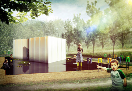 "Dossier de presse | 837-11 - Communiqué de presse | The International Garden Festival announces the designers for its 16th edition - International Garden Festival / Reford Gardens - Landscape Architecture -  SE MOUILLER (la belle échappée) by Groupe A / Annexe U [Jean-François Laroche, architect, Rémi Morency, architect and urbanist, Erick Rivard, architect & Maxime Rousseau, architect], Québec (Québec) Canada.<br><br>The installation explores the discussion about invasive species and the delicate balance of ecosystems. Here plants will be kept in a kind of vise that visitors will be invited to enter. The plant will escape over the course of the summer. Loss of control? When what is beautiful becomes dangerous...the experience will be repeated as the garden invites visitors to engage physically with the garden. Gone is simple contemplation. The call to participate is also an invitation to interact and share in the common environment of the wetland. ""Don your boots and get wet"" offers a chance to discover a completely different space.<br><br>Groupe A / Annexe U is an architectural firm from Quebec City that have developed a unique expertise in land management, urban planning and urban design. For the members of this multidisciplinary team, the participation of and interaction with the client and other stakeholders, are at the heart of every project. The sensitivity with which they approach each project and their creativity has contributed to the success of the firm, which has garnered them awards and made them finalists in many compétitions.  - Crédit photo : Groupe A / Annexe U"