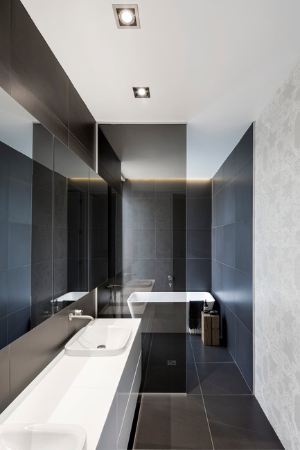 Press kit | 1560-01 - Press release | Holy Cross House - TBA / Thomas Balaban Architecte - Residential Architecture - Master bathroom - Photo credit: Adrien Williams