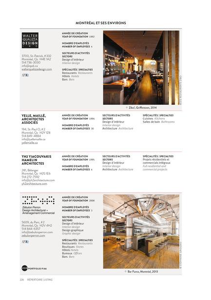 Dossier de presse | 611-17 - Communiqué de presse | Index-design launches the 6th edition of the Guide – 200 interior designers from Quebec - Index-Design - Edition - Listing - Montréal - Crédit photo : Index_design