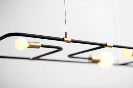 Press kit | 1619-01 - Press release | Official launch of the Beaubien by Lambert & Fils at ICFF 2015 in New York - Lambert & Fils - Product - Close shot of the Beaubien in suspension - Photo credit: Adrien Williams