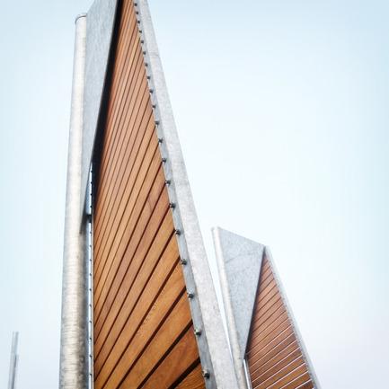 Dossier de presse | 1097-02 - Communiqué de presse | Les Bancs Voiles, projet lauréat aux World Interiors News Awards 2015 à Londres - Les Ateliers Guyon - Architecture de paysage - Crédit photo : Félix Guyon
