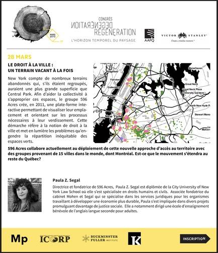Dossier de presse | 1067-08 - Communiqué de presse | Congrès 50e anniversaire de l'AAPQ «Dégénération / Régénération, l'horizon temporel du paysage» - L'Association des architectes paysagistes du Québec (AAPQ) - Architecture de paysage - Crédit photo : KB<br><br>