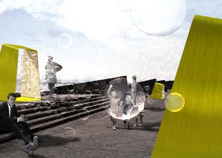 "Press kit | 982-22 - Press release | Festival des Architectures Vives - Presentationoftheteams andtheirprojects - Festival des Architectures Vives - Event + Exhibition - ""EMBRUNS""<br>Arnaud MALTHIEU _ Amandine ROMANET _ Matthieu THUILLIER - Photo credit: Arnaud MALTHIEU _ Amandine ROMANET _ Matthieu THUILLIER / FAV 2015"