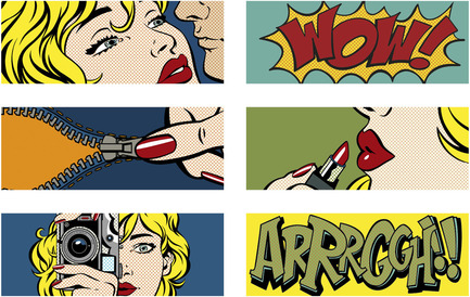 Press kit | 1606-01 - Press release | Une nouvelle céramique s'inspirant du Pop Art de Roy Lichtenstein - Ceratec - Product - Cartoon mix 1 - Photo credit: POP series by Ceratec