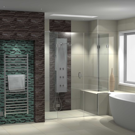 Press kit | 1548-03 - Press release | May Design Series 2015: Show Preview - UBM EMEA Built Environment - Residential Interior Design - Logicom theshowerlab bepsoke shower designed using Virtual Worlds CAD - Photo credit: Logicom