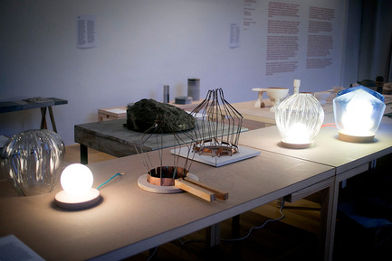 Press kit | 1171-04 - Press release | BIO 50 Coming to Milan Design Week 2015 - Museum of Architecture and Design (MAO), Ljubljana - Event + Exhibition -  Hidden Crafts - Pre-mold lamps by Annika Frye<br>  - Photo credit: Ana Kovač/MAO
