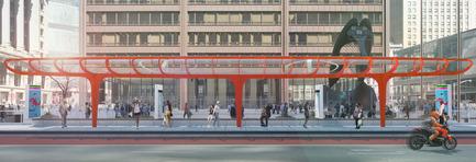 Dossier de presse | 809-15 - Communiqué de presse | Azure announces the finalists of the fifth annual AZ Awards - Azure Magazine - Concours - Concepts / Prototypes: AECOM: Chicago Loop BRT Station<br> - Crédit photo :  AZ Awards 2015