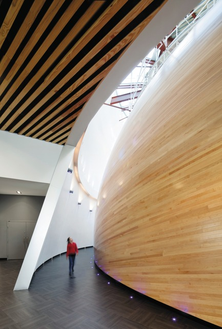 Press kit | 673-05 - Press release | Et les lauréats de la 7e édition des Grands Prix du Design sont… - Agence PID - Competition - CATÉGORIE VALORISATION DU BOISPRIX VALORISATION DU BOIS EN DESIGN D'INTÉRIEURCardin Ramirez Julien et ÆdificaPlanétarium Rio Tinto Alcan - Photo credit: Stéphane Brügger