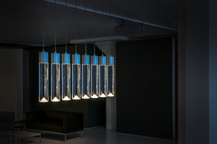 Press kit | 1615-01 - Press release | Canadian Lighting Company Archilume Unveils New LED Chandeliers at  ICFF, May 16-19, 2015 - Archilume - Lighting Design - Archilume P8 Light - Photo credit: Cat Segovia Photography