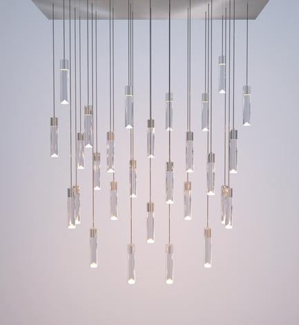 Dossier de presse | 1615-01 - Communiqué de presse | Canadian Lighting Company Archilume Unveils New LED Chandeliers at  ICFF, May 16-19, 2015 - Archilume - Lighting Design - Archilume's New 'P28' Chandelier - Crédit photo : Archilume