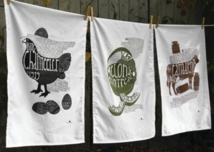 Press kit   728-10 - Press release   LOUDER. CLEARER. - Loud+Clear, the design market - Event + Exhibition - Les linges à vaiselles de Quelle histoire! - Photo credit: Paprika