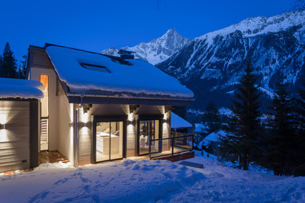 Press kit | 1682-02 - Press release | Chalet 'Dag' in Chamonix - Chevallier Architectes - Residential Architecture - Chalet DAG Chamonix - Photo credit: Alexandre Mermillod Onixstudio.com