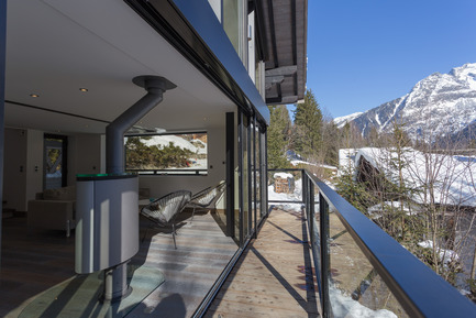 Press kit | 1682-02 - Press release | Chalet 'Dag' à Chamonix - Chevallier Architectes - Residential Architecture - Chalet DAG Chamonix - Photo credit: Alexandre Mermillod Onixstudio.com