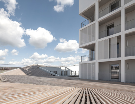 Press kit | 809-13 - Press release | Azure announces the winners of the fifth annual AZ Awards - Azure Magazine - Competition - Residential Architecture – Multi-Unit: Antonini Darmon: Oiseau des Îles Social Housing, Nantes, France - Photo credit: n/a