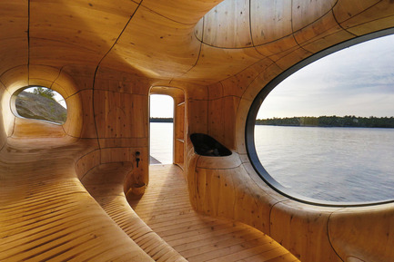 Press kit | 661-28 - Press release | World Architecture Festival Awards: 2015 WAF and INSIDE Shortlists announced - World Architecture Festival (WAF) - Commercial Architecture - Grotto Sauna by Partisans - Small Projects category  - Photo credit: Partisans