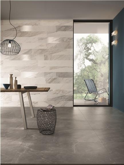 "Press kit | 846-16 - Press release | Ceragres acquires Montréal-Les-Bains - Ceragres - Product - White Experience Series&nbsp;—&nbsp;Colors:&nbsp;&nbsp;Apuano –&nbsp;wall&nbsp;/ Pulpis –&nbsp;floor&nbsp;/&nbsp;<br>Formats:&nbsp;8x48"" –&nbsp;wall&nbsp;/ 24x48"" –&nbsp;floor - Photo credit:          Italgraniti"