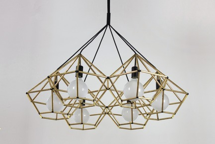 Press kit | 1834-01 - Press release | IntroducingDubai Design Week key initiatives: 'Abwab' and 'Destination' - Dubai Design Week - Event + Exhibition - Melbourne Design Week : Rough Diamond Chandelier in Bras                      by Ben- Tovim Design  <br> - Photo credit: Ben- Tovim Design
