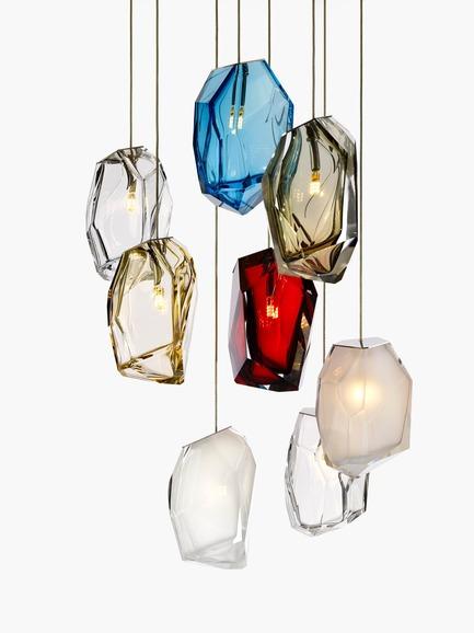 Press kit | 1818-03 - Press release | 100% Design 2015 commissions design features - 100% Design - Event + Exhibition -  Crystal Rock by Arik Levy for Lasvit  - Photo credit:  Lasvit