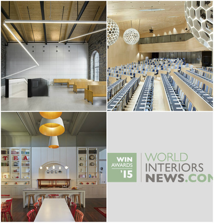 Press kit | 1124-06 - Press release | Shortlist announced for the World Interiors News Awards 2015 - World Interiors News - Commercial Interior Design - World Interiors News Awards 2015&nbsp;<br>Public Sector Shortlist<br><br>Top row, left to right:&nbsp;<br>   Montmagny Courthouse by&nbsp;   CCM2   architectes + Groupe A + Roy-Jacques Architectes<br>   WIPO/OMPI Conference Hall by&nbsp;   Behnisch   Architekten<br><br>Bottom row:<br>   Roedean School by&nbsp;   Buckley   Gray Yeoman<br> - Photo credit: Various