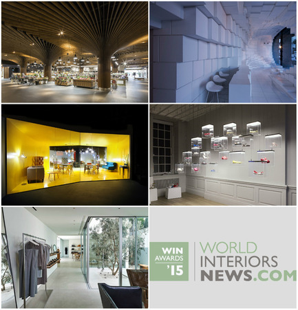 Press kit | 1124-06 - Press release | Shortlist announced for the World Interiors News Awards 2015 - World Interiors News - Commercial Interior Design - World Interiors News Awards 2015&nbsp;<br>Retail Interiors Greater Than 200 SQ. M Category Shortlist&nbsp;<br><br>Top row, left to right:&nbsp;<br>   East Village Urban Marketplace by Koichi   Takada Architects<br>Unilux by SOMA<br><br>Middle row, left to right:<br>Made Soho by Bureau   de Change Architects<br>   Galeria Melissa by IDL<br><br>Bottom:&nbsp;<br>The Row by Montalba Architects, Inc.<br><br> - Photo credit: Various