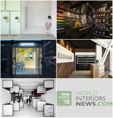 Press kit | 1124-06 - Press release | Shortlist announced for the World Interiors News Awards 2015 - World Interiors News - Commercial Interior Design - World Interiors News Awards 2015&nbsp;<br>Retail Interiors Less Than 200 SQ. M Category Shortlist&nbsp;<br><br>Top row, left to right:&nbsp;<br>   SUMIYOSHIDO   kampo lounge, clinic for acupuncture and moxibustion by id<br>   T2 Shoreditch by Landini Associates<br><br>Middle row, left to right:&nbsp;<br>   Milk Tea &amp; Pearl by Y A O<br>   Greene Street Juice Co. by Travis   Walton Architecture<br><br>Bottom row:&nbsp;<br>shop 03 by i29 interior architects - Photo credit: Various