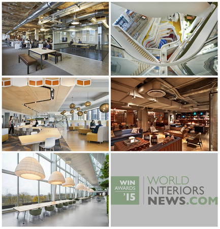 Press kit | 1124-06 - Press release | Shortlist announced for the World Interiors News Awards 2015 - World Interiors News - Commercial Interior Design - World Interiors News Awards 2015<br>Workspace Interiors Greater Than 10,000 SQ. M Category Shortlist&nbsp;<br><br>Top row, left to right:&nbsp;<br>   Havas / Arnold Worldwide   Boston Headquarters by    Sasaki   Associates, Inc.&nbsp;<br>Medibank Workplace by HASSELL<br><br>Middle row, left to right:&nbsp;<br>Westpac Melbourne by Geyer<br>   Neuehouse by Rockwell   Group<br><br>Bottom row:&nbsp;<br>   Deloitte and AKD / The Edge by Fokkema   &amp; Partners Architecten<br> - Photo credit: Various