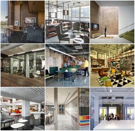 Press kit | 1124-06 - Press release | Shortlist announced for the World Interiors News Awards 2015 - World Interiors News - Commercial Interior Design - World Interiors News Awards 2015<br>Workspace Interiors Less Than 10,000 SQ. M Category Shortlist&nbsp;<br><br>Top row, left to right:&nbsp;<br>   CM2 offices by Taller   Leticia Serrano<br>   Henry Wood House by BuckleyGrayYeoman<br>   NY Advertising Agency by Marge   Arkitekter<br><br>Middle row, left to right:&nbsp;<br>   FiftyThree, Inc by +ADD<br>   Kiruna Office by White   arkitekter AB<br>   Open, Tel Aviv by studio   dan troim<br><br>Bottom row,&nbsp;left to right:&nbsp;<br>   GLG Global Headquarters by&nbsp;   Clive   Wilkinson Architects   NOTONTHEHIGHSTREET.COM Office by Studiofibre<br>The Swivel Space by Spark Architects - Photo credit: Various