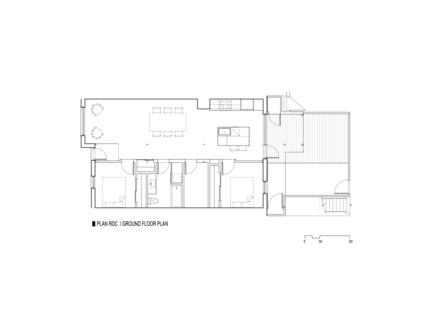 Dossier de presse | 1527-01 - Communiqué de presse | 867 De Bougainville - Bourgeois / Lechasseur architectes - Architecture résidentielle - Plan - Crédit photo : Bourgeois / Lechasseur architectes