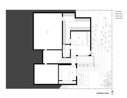 Press kit | 1733-02 - Press release | Noe Residence - Studio VARA - Residential Architecture -  Basement Plan - Photo credit:  Studio Vara
