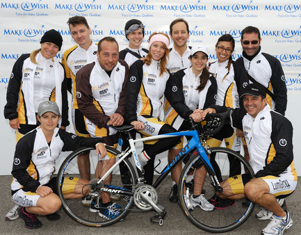 Press kit | 1152-04 - Press release | LumiGroup ranks No. 370 on the 2015 PROFIT 500 - LumiGroup - Competition - LumiGroup at the 48h bike ride for Make a Wish Canada - Photo credit: LumiGroup