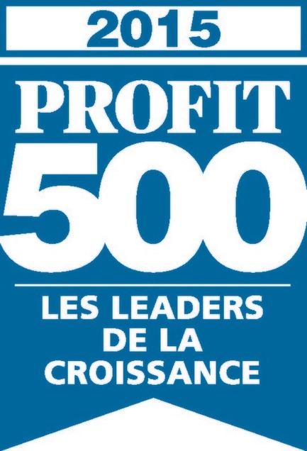 Press kit | 1152-04 - Press release | LumiGroup ranks No. 370 on the 2015 PROFIT 500 - LumiGroup - Competition - PROFIT 500 blue logo (french version) - Photo credit:  PROFIT 500