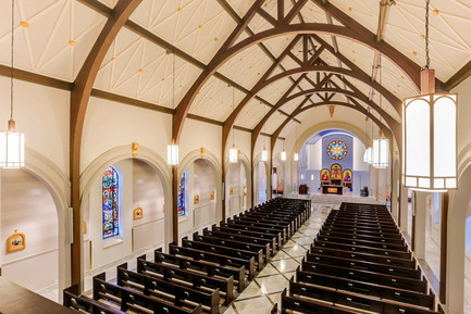 Press kit | 1845-01 - Press release | Ontario's top interior designers celebrated at the 2015 ARIDO Awards gala - Association of Registered Interior Designers of Ontario (ARIDO) - Commercial Interior Design - Saint Leo's Church - 2015 ARIDO Award of Merit - Photo credit: Craig A. Williams