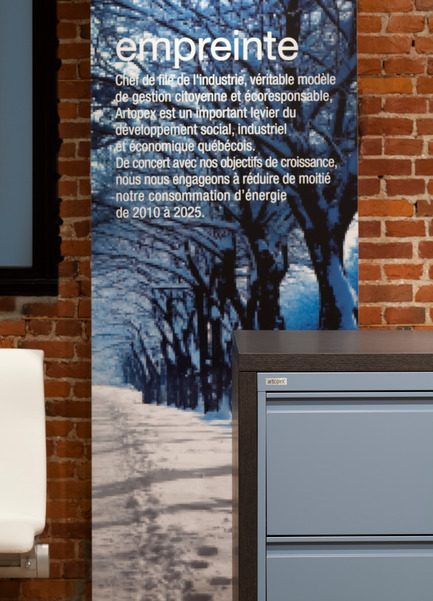 Press kit | 1835-01 - Press release | Artopex opens a showroom in Quebec City - Artopex - Commercial Interior Design - Photo credit:         Claude-Simon Langlois