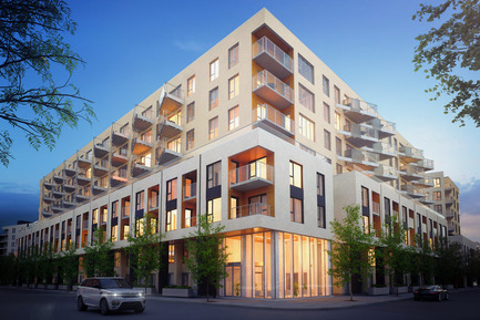 Press kit | 1867-01 - Press release | ARBORA prend racine dans Griffintown - LSR GesDev et Sotramont - Residential Architecture - Exterior view 1 - Photo credit: Lemay+CHA