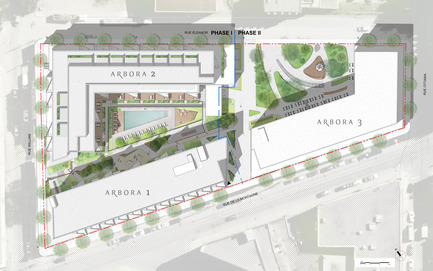 Press kit | 1867-01 - Press release | ARBORA prend racine dans Griffintown - LSR GesDev et Sotramont - Residential Architecture - Global overview of Arbora - Photo credit: Arbora