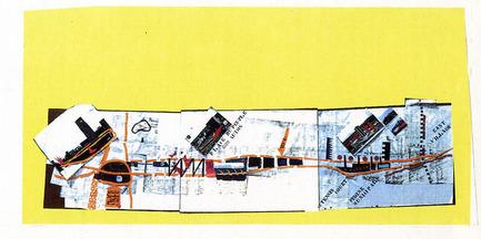 Press kit | 763-15 - Press release | L'exposition « Montréal jamais construit, 1990-2015 » + soirée « Perdants magnifiques» au Centre Phi - Maison de l'architecture du Québec - Event + Exhibition - Place du Peuple Parking 3000 Autos, 1989. - Photo credit: Atelier Big City<br>