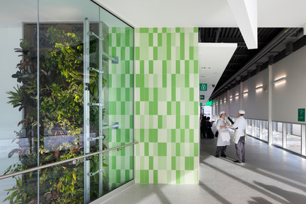 Press kit | 1866-01 - Press release | Durham College Centre for Food - Gow Hastings Architects - Institutional Architecture - Student chef's cross paths in an informal learning area - Photo credit: Tom Arban