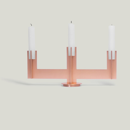 Press kit | 1097-04 - Press release | Launching Larose Guyon, object design studio - Larose Guyon - Product - CANDLESTICK, Victor 3 branches - Photo credit: Larose Guyon