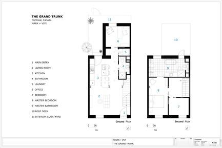 Dossier de presse | 1608-02 - Communiqué de presse | La Renaissance de Grand Trunk - Mark+Vivi - Architecture résidentielle - Plans - Crédit photo : MARK+VIVI