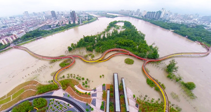 Press kit | 661-31 - Press release | The Interlace in Singapore: World Building of the Year 2015 - World Architecture Festival (WAF) - Competition - Yanweizhou Park, China, by Turenscape International, winner of the Landscape of the Year 2015  - Photo credit: Turenscape International