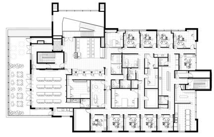 Press kit | 1538-02 - Press release | Le 1650, a modern facility, bold in design with a unique signature style - A2DESIGN Concepteurs stratégiques - Commercial Architecture - Planning of interior spaces -&nbsp;St-Onge Dental Center<br> - Photo credit: A2DESIGN