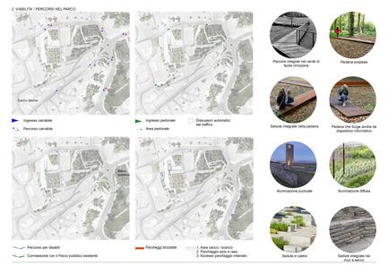 Press kit | 1957-01 - Press release | New Civic Centre in Villacidro - 3TI PROGETTI - Competition - Access diagram<br> - Photo credit: 3TI PROGETTI + 3TI_LAB