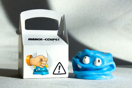 Press kit | 884-05 - Press release | HEC Project 2014 Edition - Faculty of Environmental Design of University of Montreal - Industrial Design - MANGE-COUP !<br><br>Little monster whose sole purpose is for the user to release their anger! Made of polyurethane foam.<br><br>Tristan Garbiès<br>Vincent Bouchard<br>Marc Paquin<br> - Photo credit: Laurent Trudel