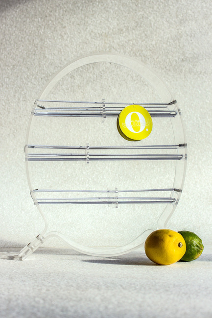 Press kit | 884-05 - Press release | HEC Project 2014 Edition - Faculty of Environmental Design of University of Montreal - Industrial Design - O<br>  <br>An elegant new way to store fruits. Increases accessibility all the while providing an improved air circulation to preserve them longer.<br><br>Victoria Pacitto<br>Salma Dinia<br>Estelle Huynh<br> - Photo credit: Laurent Trudel
