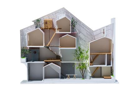 Press kit | 1256-01 - Press release | Saigon house - a21studĩo - Residential Architecture - Model  - Photo credit: Quang Tran