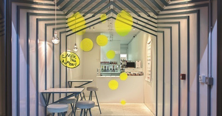 Dossier de presse | 1124-07 - Communiqué de presse | Winners Announced - World Interiors News - Commercial Interior Design -  WINNER - RETAIL INTERIORS LESS THAN 200 SQ. M<br>MILK TEA & PEARL<br>by Y A O, United Kingdom<br>'Really clever use of space, simple idea, beautiful detail.'  - Crédit photo : Y A O