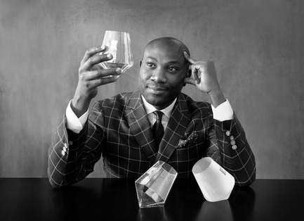 Press kit | 990-03 - Press release | KAYIWA's New Gravity-Defying Barware Redefines Modern Drinking Culture - KAYIWA - Product -   Designer/Artist Lincoln Kayiwa portrait - Photo credit:  KAYIWA
