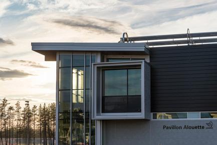 Press kit | 755-04 - Press release | Alouette University Building, UQAC - BGLA | Architecture + Design urbain - Institutional Architecture - Alouette University Building, UQAC - Photo credit: Optik 360°
