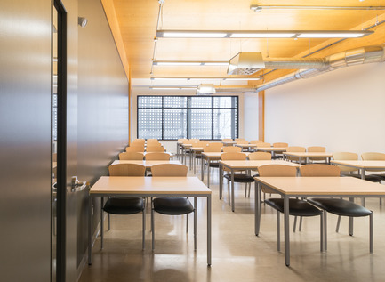 Press kit | 755-04 - Press release | Alouette University Building, UQAC - BGLA | Architecture + Design urbain - Institutional Architecture - Classroom - Photo credit: Optik 360°